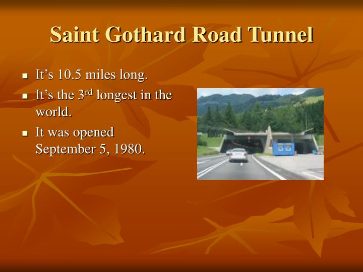 Saint Gothard Road Tunnel