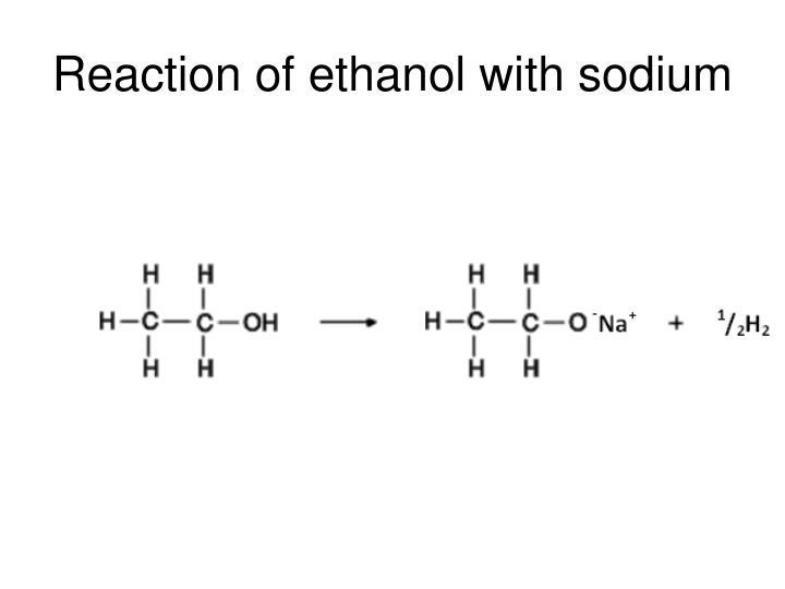 Reaction of ethanol with sodium