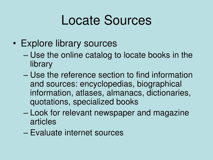 Locate Sources