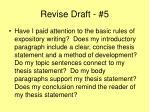 revise draft 5
