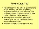 revise draft 7