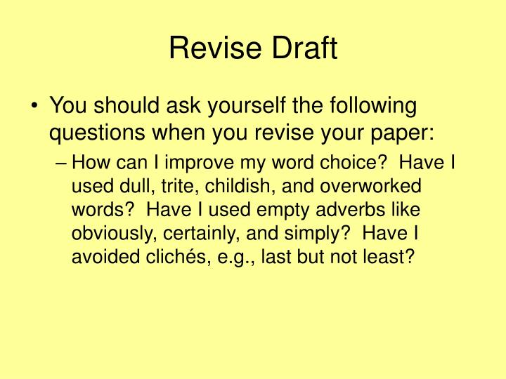Revise Draft