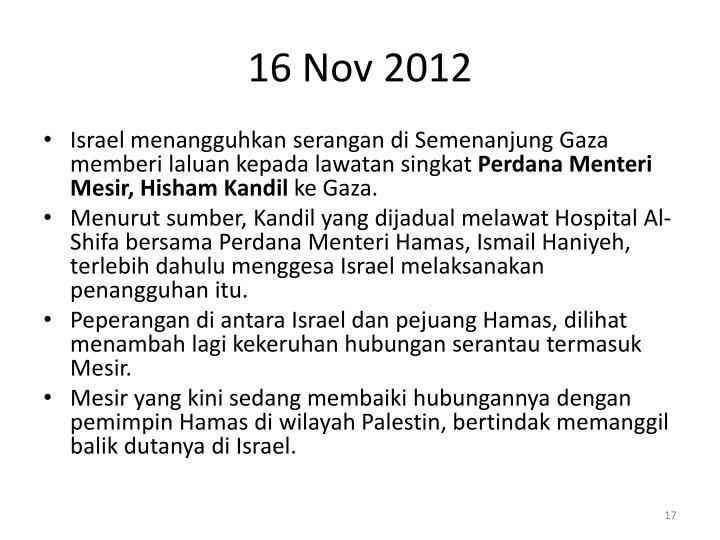 16 Nov 2012