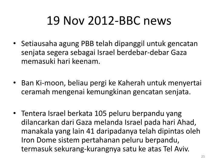 19 Nov 2012-BBC news