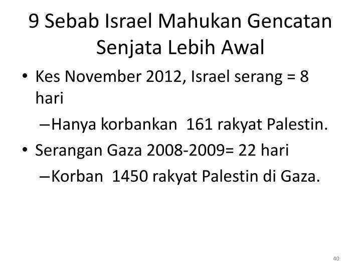 9 Sebab Israel Mahukan Gencatan Senjata Lebih Awal