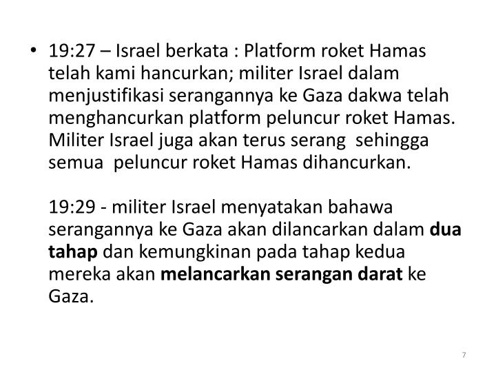 19:27 – Israel