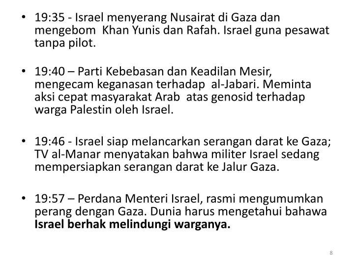 19:35 - Israel