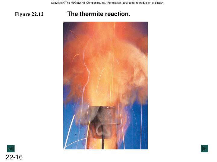 The thermite reaction.