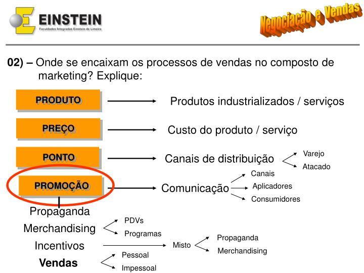 Produtos industrializados / serviços