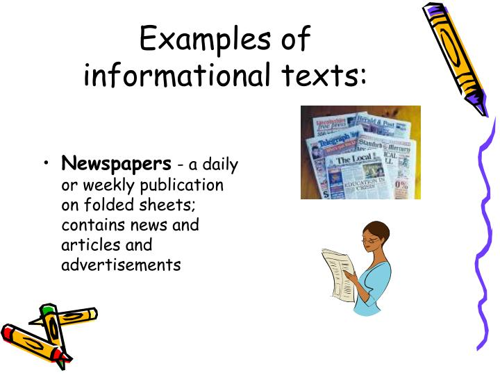 Examples of informational texts