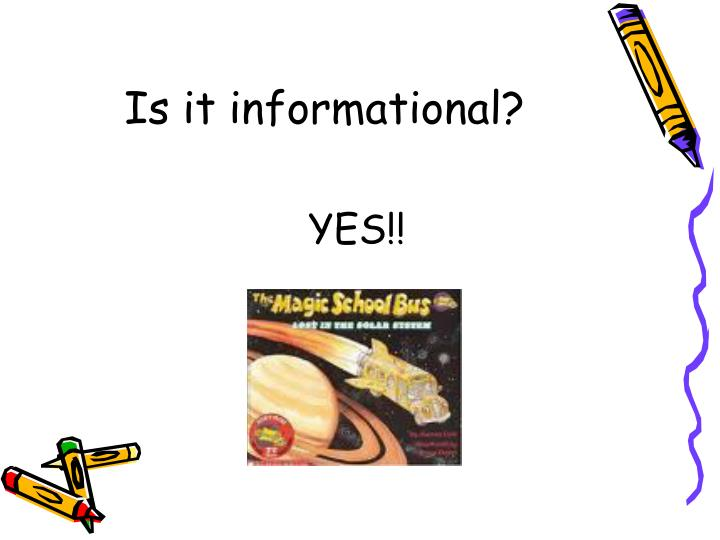 Is it informational?