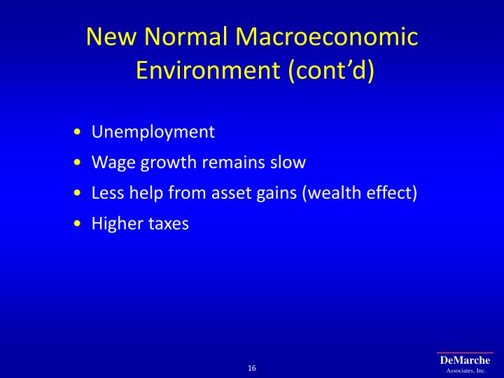 New Normal Macroeconomic