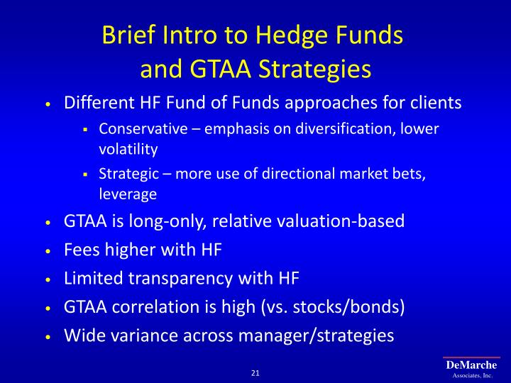 Brief Intro to Hedge Funds