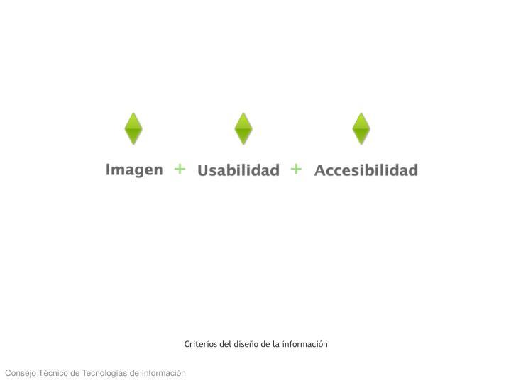 Criterios del diseño de la información