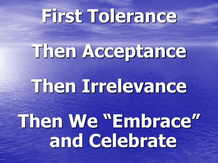 First Tolerance