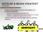 develop a media strategy continued