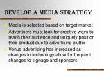 develop a media strategy