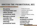 discuss the promotional mix