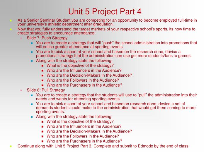 Unit 5 Project Part 4