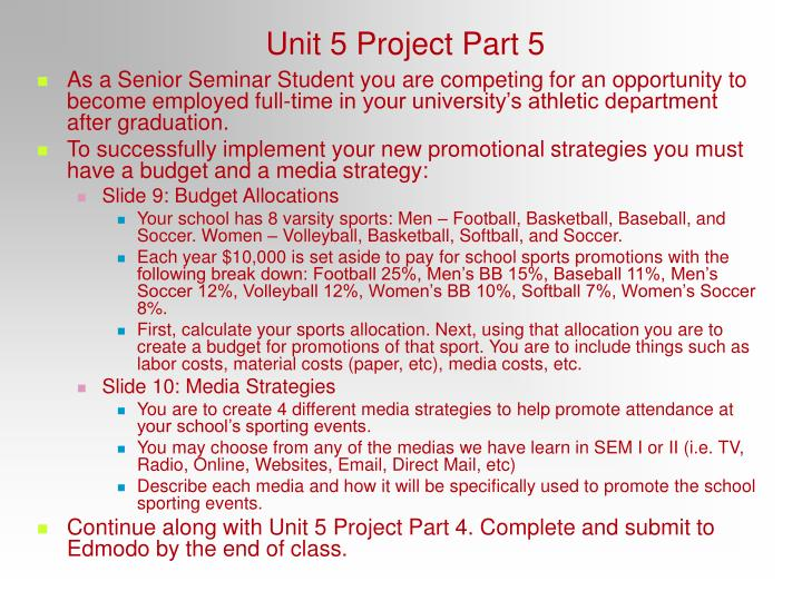 Unit 5 Project Part 5