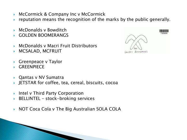 McCormick & Company Inc