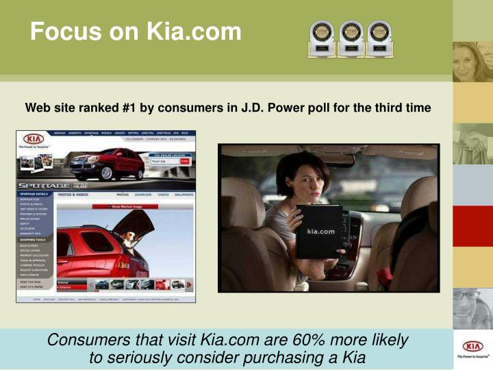 Focus on Kia.com