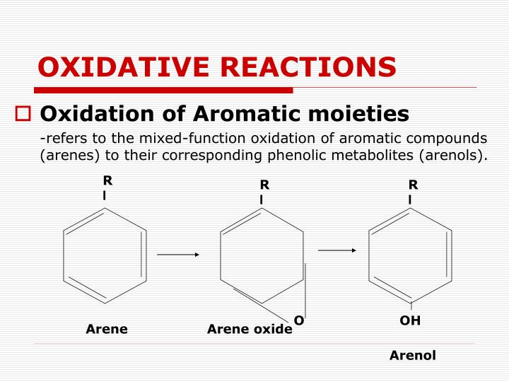 OXIDATIVE REACTIONS