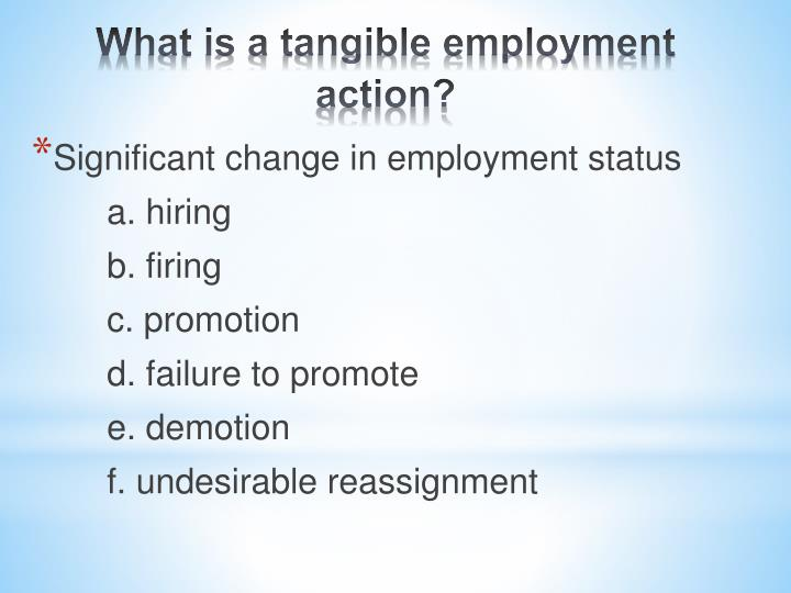 Significant change in employment status