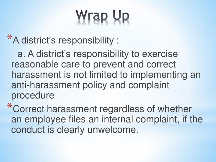 A district's responsibility :