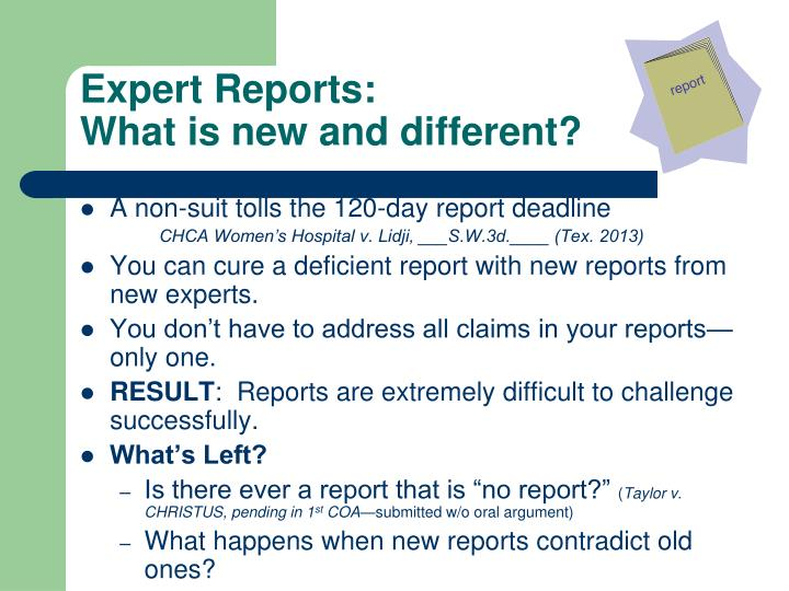 Expert Reports:
