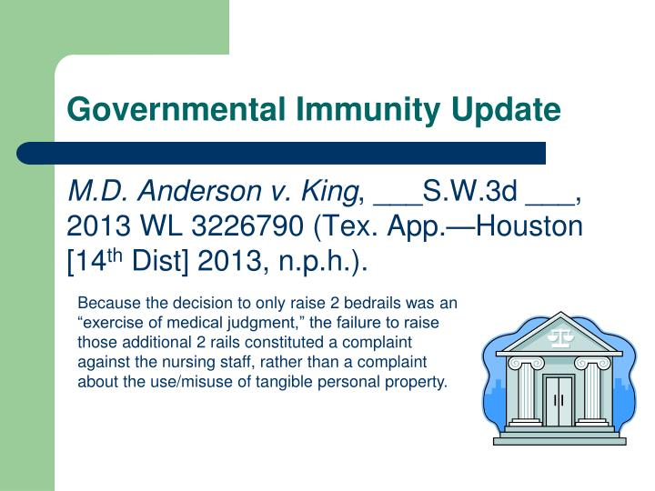 Governmental Immunity Update