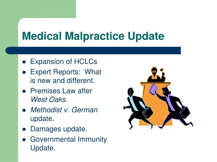 Medical malpractice update