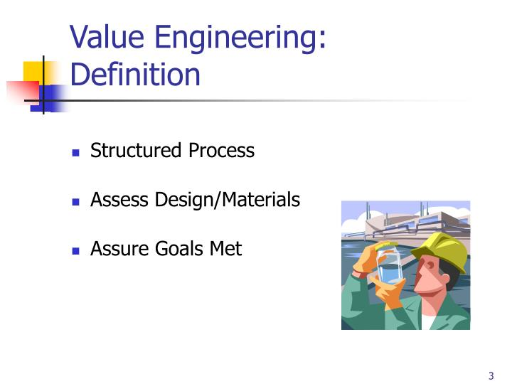 Value engineering definition