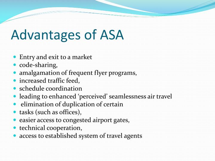 Advantages of ASA