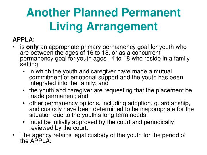 Another Planned Permanent Living Arrangement