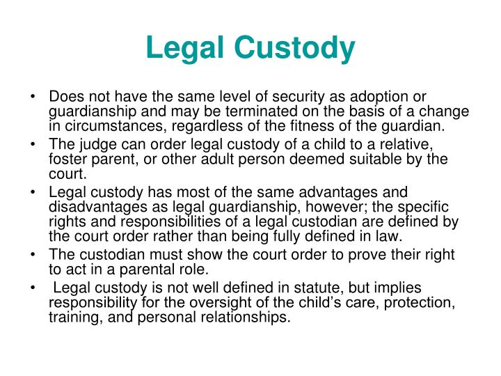 Legal Custody