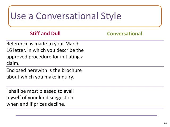 Use a Conversational Style