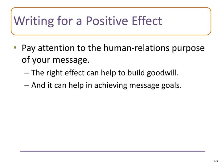 Writing for a positive effect1