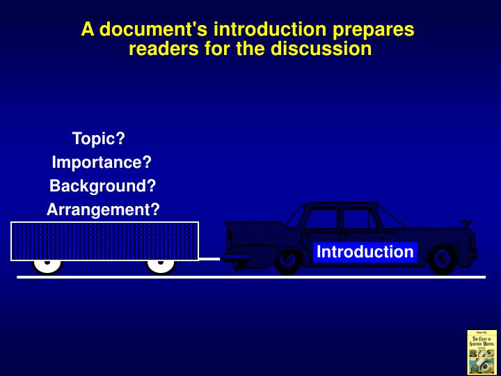 A document's introduction prepares