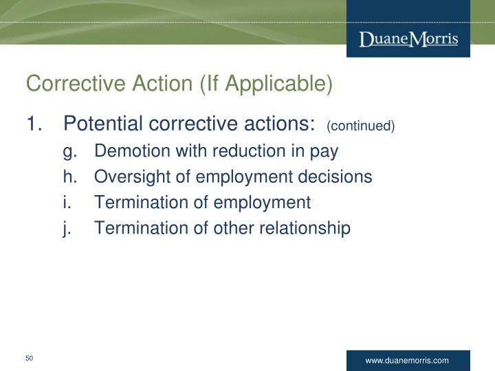Corrective Action (If Applicable)
