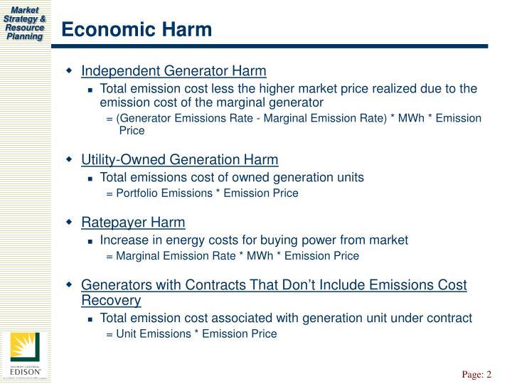 Economic Harm