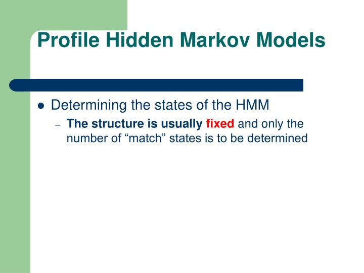 Profile Hidden Markov Models
