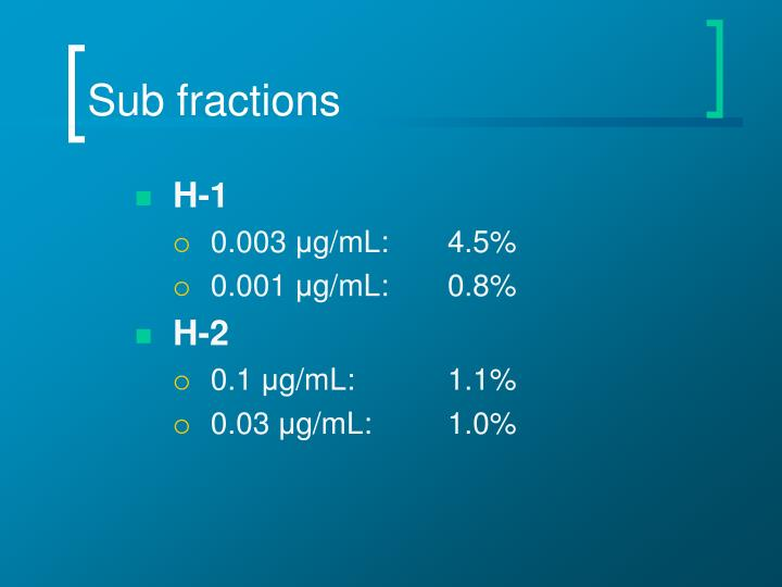 Sub fractions