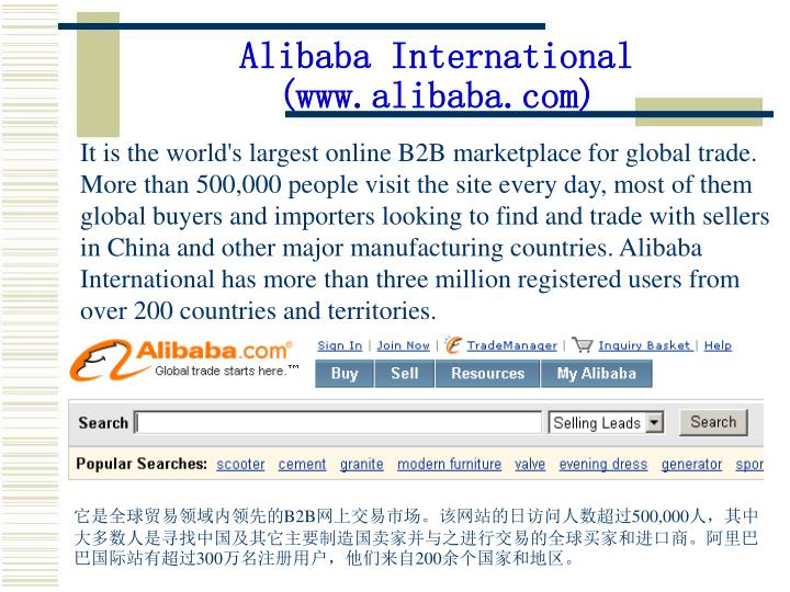 Alibaba International (www.alibaba.com)