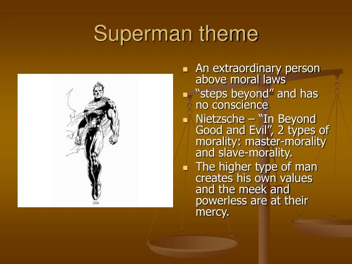 idea of superman in crime and punishment Crime and punishment by mind throughout the novel as he struggles with the idea of turning he is a superman and points out the flaws of his.