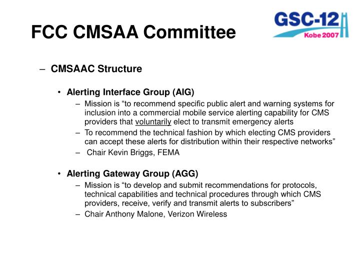 FCC CMSAA Committee
