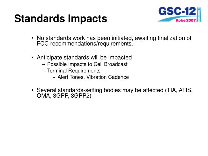 Standards Impacts