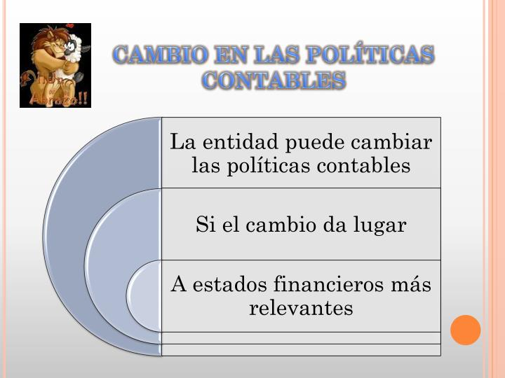 CAMBIO EN LAS POLÍTICAS CONTABLES