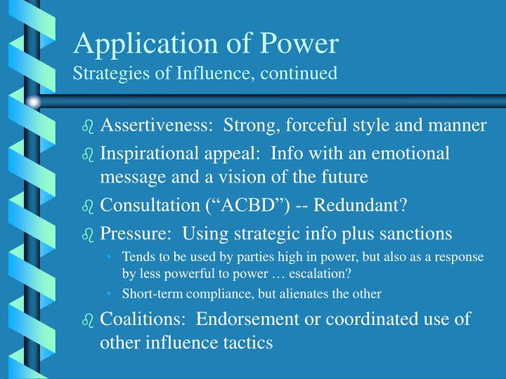 Application of Power