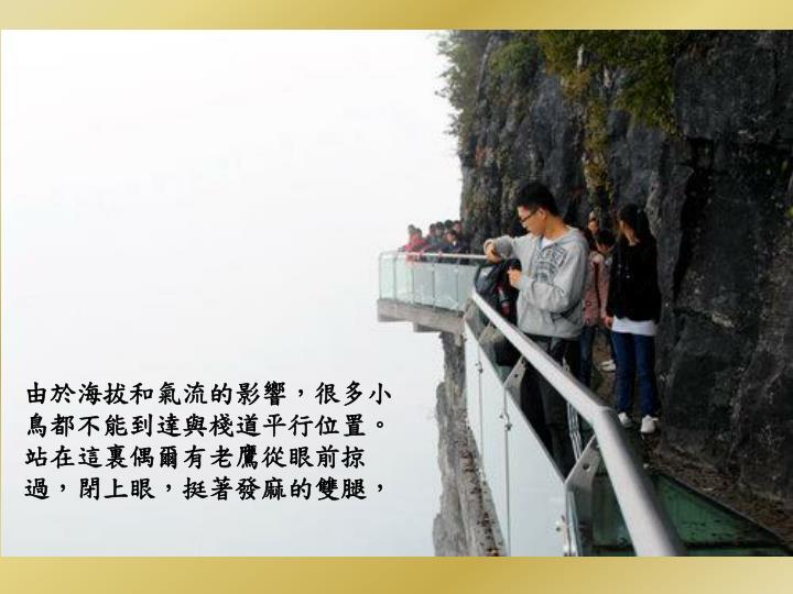 由於海拔和氣流的影響,很多小